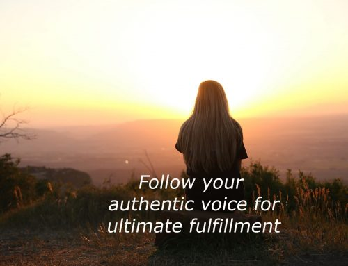 Follow your authentic voice for ultimate fulfillment
